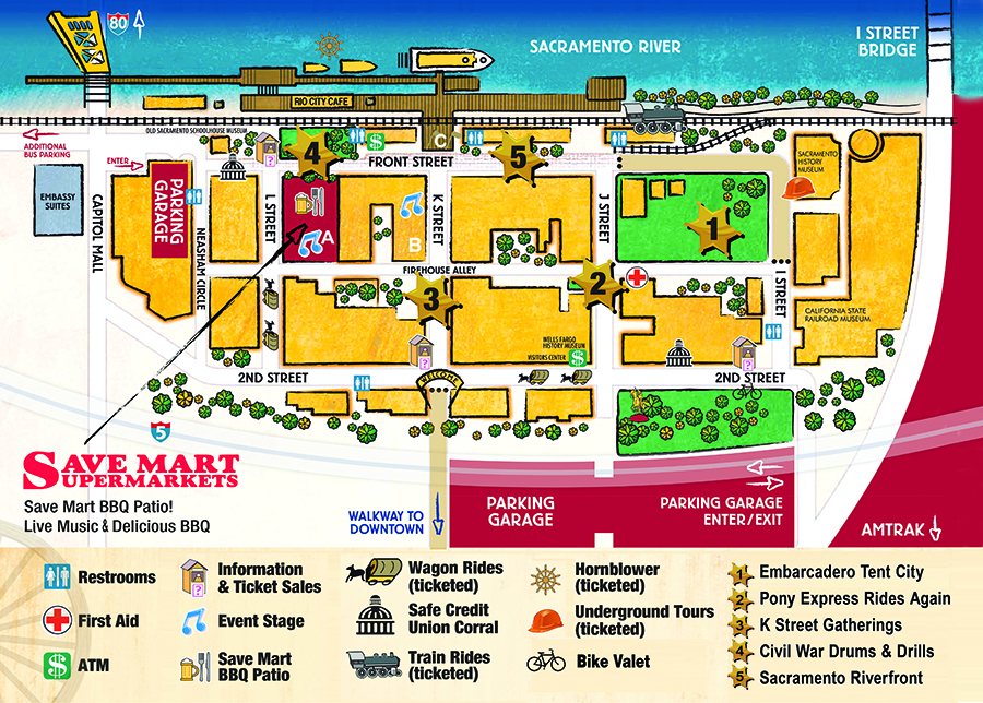 Event Map Sacramento Gold Rush Days Labor Day Weekend